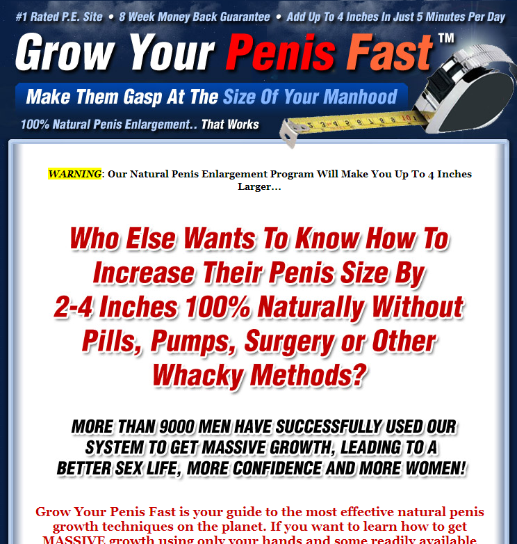 How to enlarge your penis fast