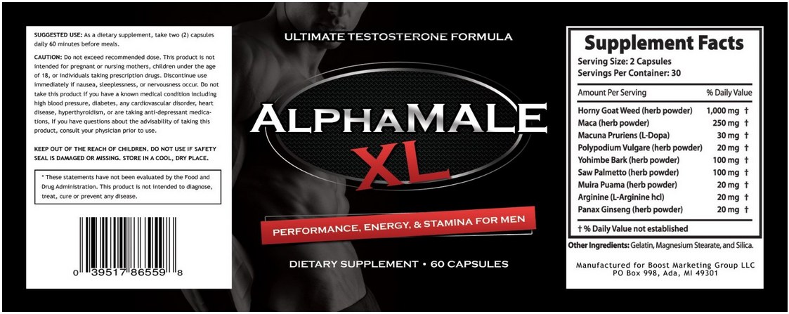 My Personal Results From AlphaMale XL