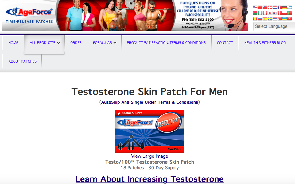 Testo100-Natural-Testosterone-Booster-Patch-Honest-Review-from-Several-Results-Here-reviews-ageforce-brand-company-supplement-patches-comments-patch-becoming-alpha-male